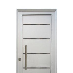 Puerta aluminio blanco reforzada modelo 190 de 080 x 200 for Precio de puertas de aluminio en rosario