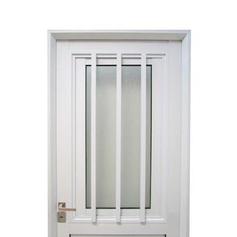 Puerta aluminio blanco reforzada modelo 150 de 080 x 200 for Puertas 75 x 200