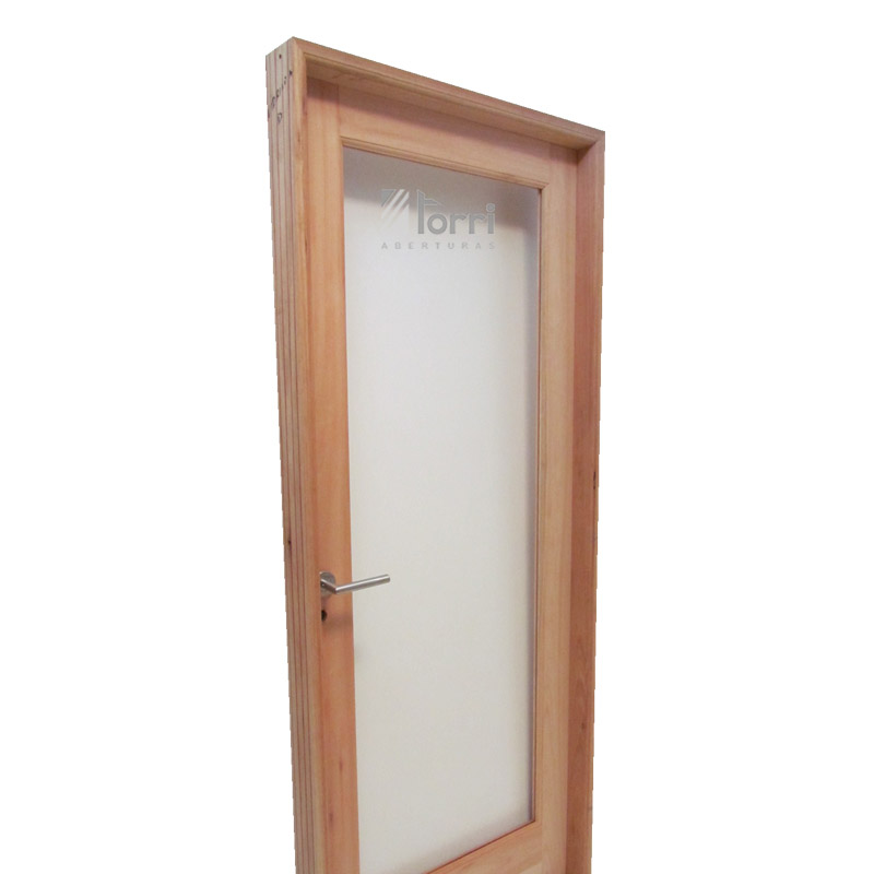 Puerta madera grandis vidrio entero de 080 x 200 for Puertas 75 x 200