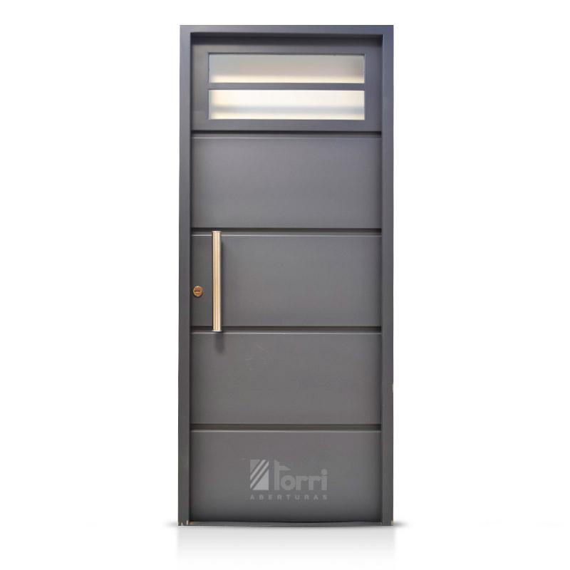 Puerta de chapa super reforzada modelo loft light 080 200 for Puertas de chapa galvanizada