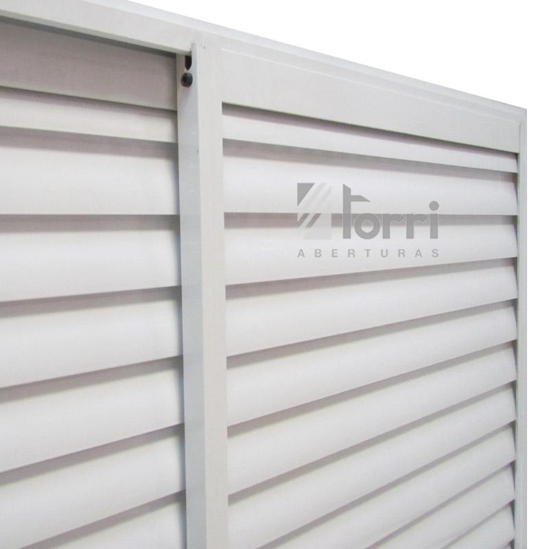 Ventana aluminio blanco con celosia corrediza 120 110 - Celosia de aluminio ...
