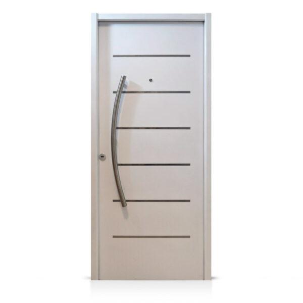 Puerta chapa pintada horno blanca modelo ac81 de 080 200 - Puertas blancas exterior ...