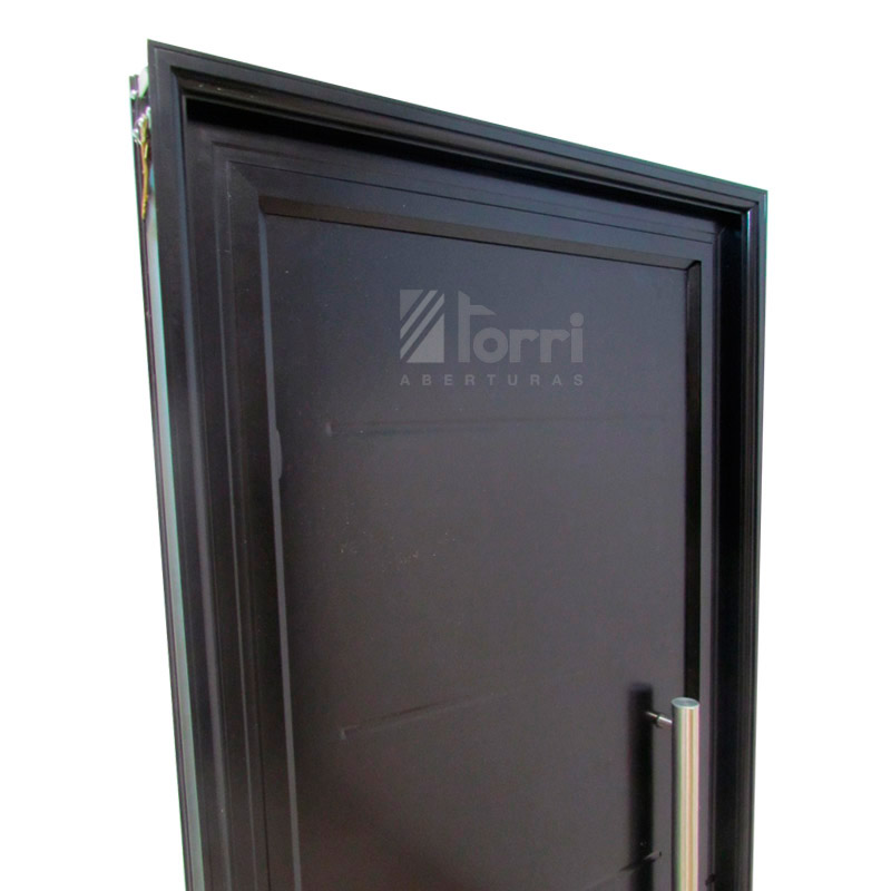 Puerta aluminio negro modelo 5 rayas de 085 205 - Modelo de puertas de aluminio ...