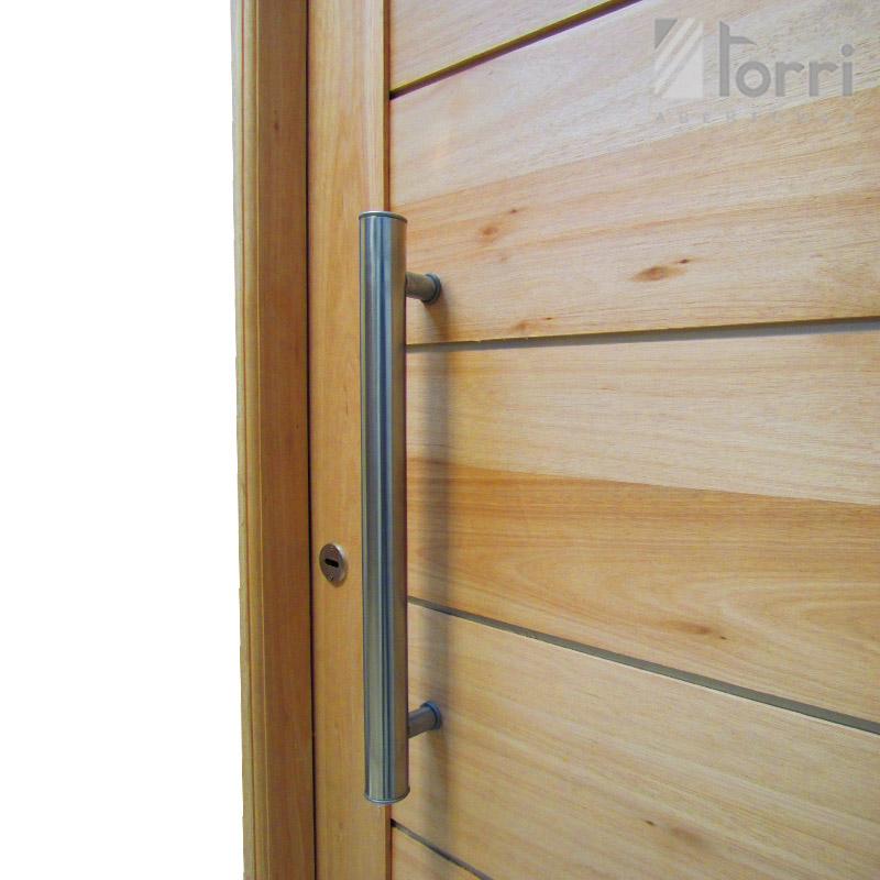 puerta madera grandis machimbre horizontal de x