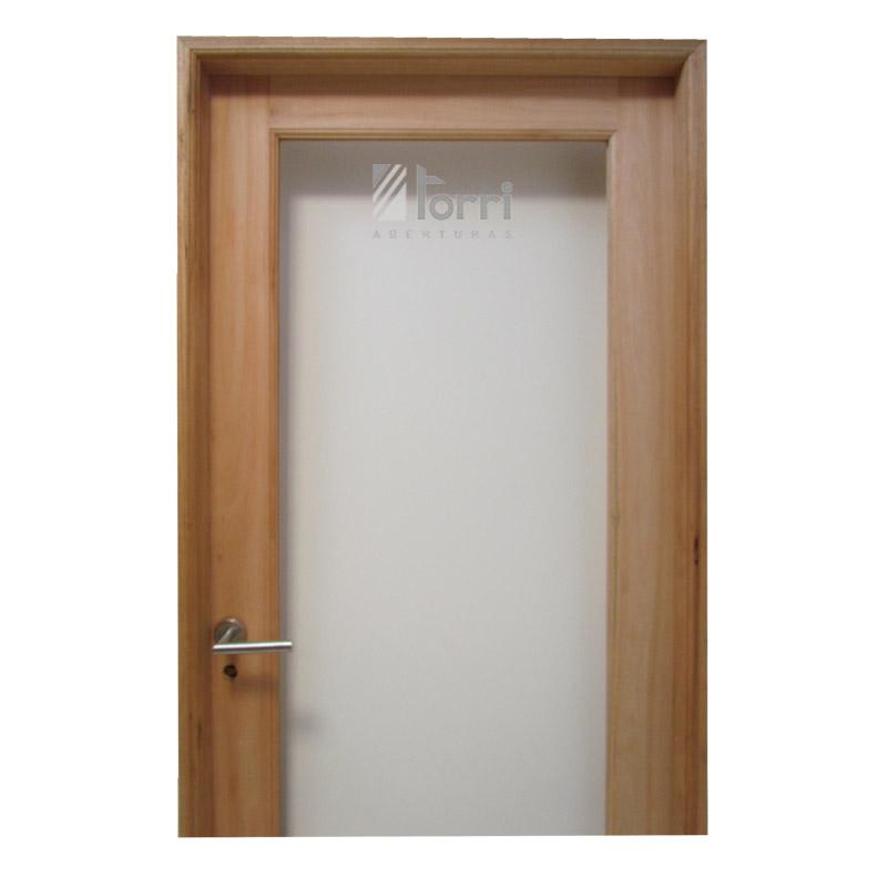 Puerta madera grandis vidrio entero de 080 x 200 for Puerta de madera con marco