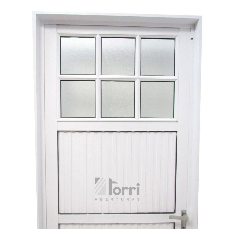 Puerta aluminio blanco modelo 042 de 080 200 y 070 200 for Modelos de puertas de aluminio blanco