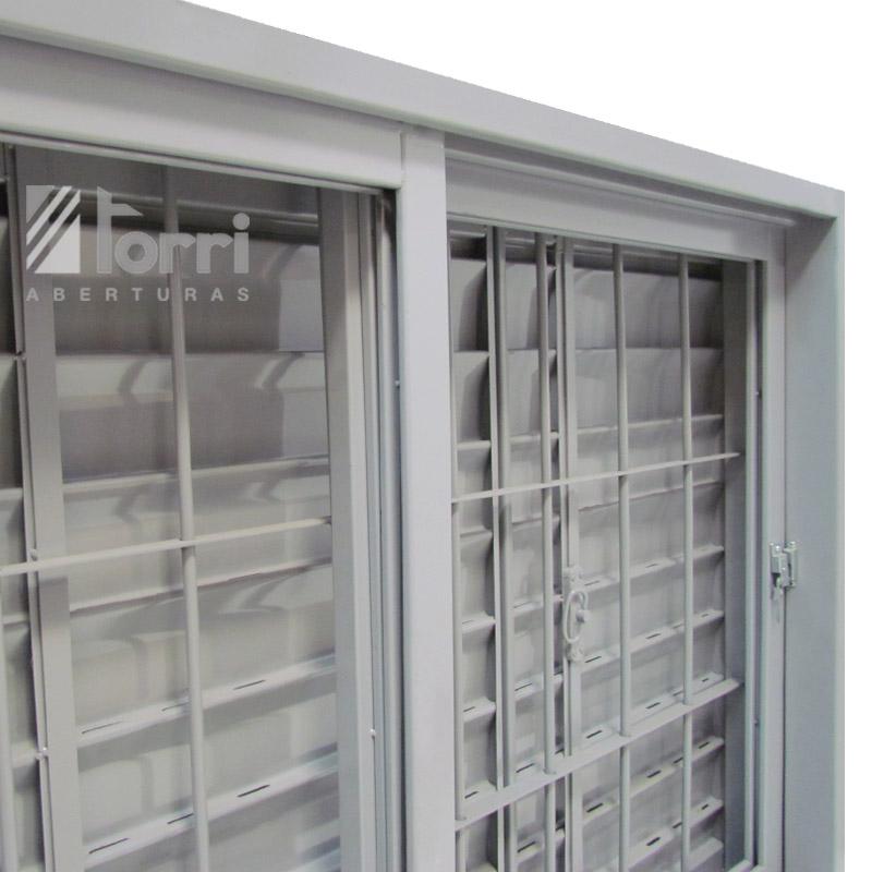 Ventana chapa reforzada 150 100 con celosia y reja - Celosias para ventanas ...