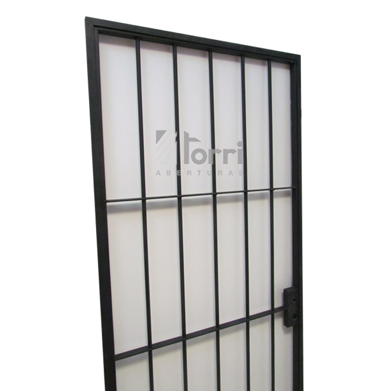 Puerta Reja de hierro macizo de 080×200 con marco – Aberturas Torri