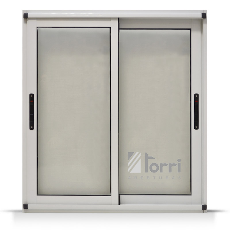 Ventana aluminio blanco modena con mosquitero 150 150 for The ventana