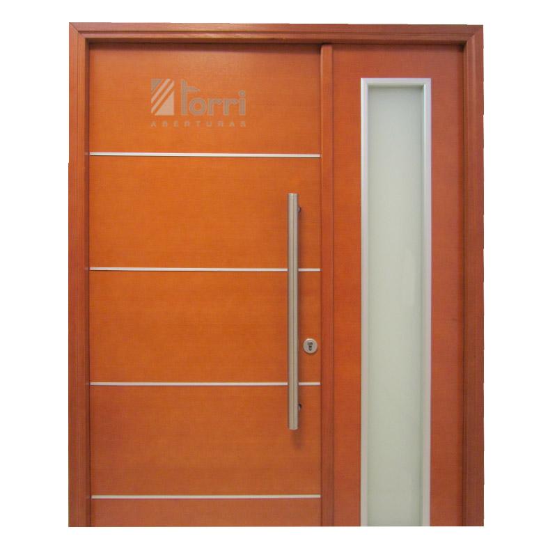 Portada de madera oblak modelo 1283 con vidrio aberturas for Modelos de puertas madera con vidrio