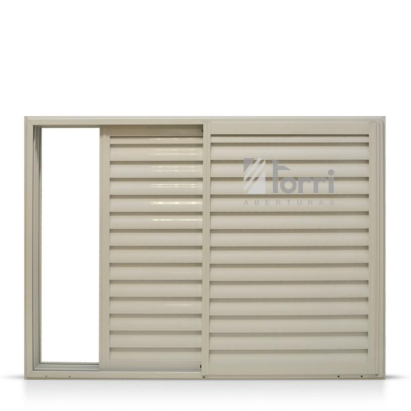 Ventana aluminio blanco con celosia corrediza 150 110 - Celosias para ventanas ...