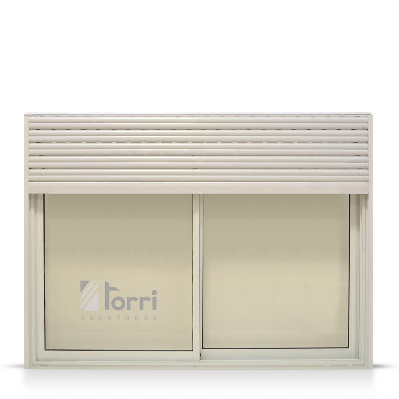 Oferta ventana aluminio blanco herrero cortina pvc y for Ventanas de aluminio con cortina