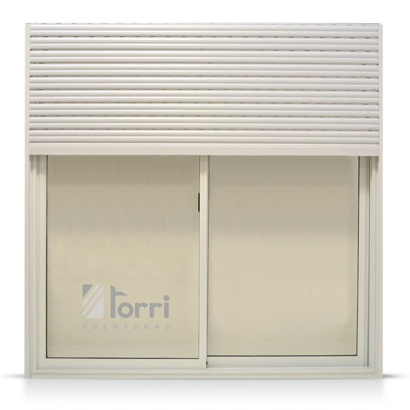 Ventana de aluminio blanco herrero con cortina pvc y - Ventanas de aluminio o pvc precios ...