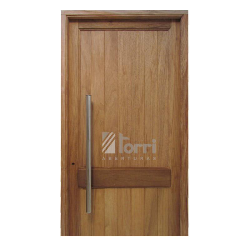 Puerta madera timbo modelo machimbre vertical de 080 200 for Madera para puertas exteriores