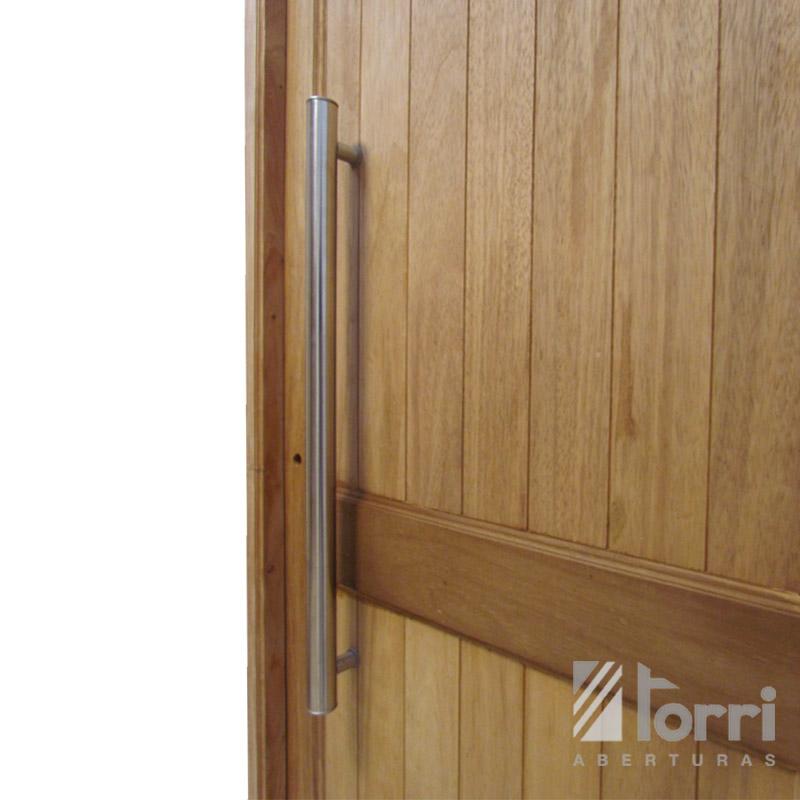 puerta madera timbo modelo machimbre vertical de
