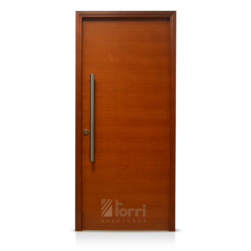 Oferta puerta madera oblak modelo 1200 cedro de 080 for Puertas en madera para exteriores