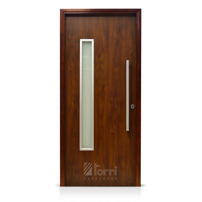Puerta de madera oblak modelo 1188 cedro de 080 200 for Puerta madera exterior