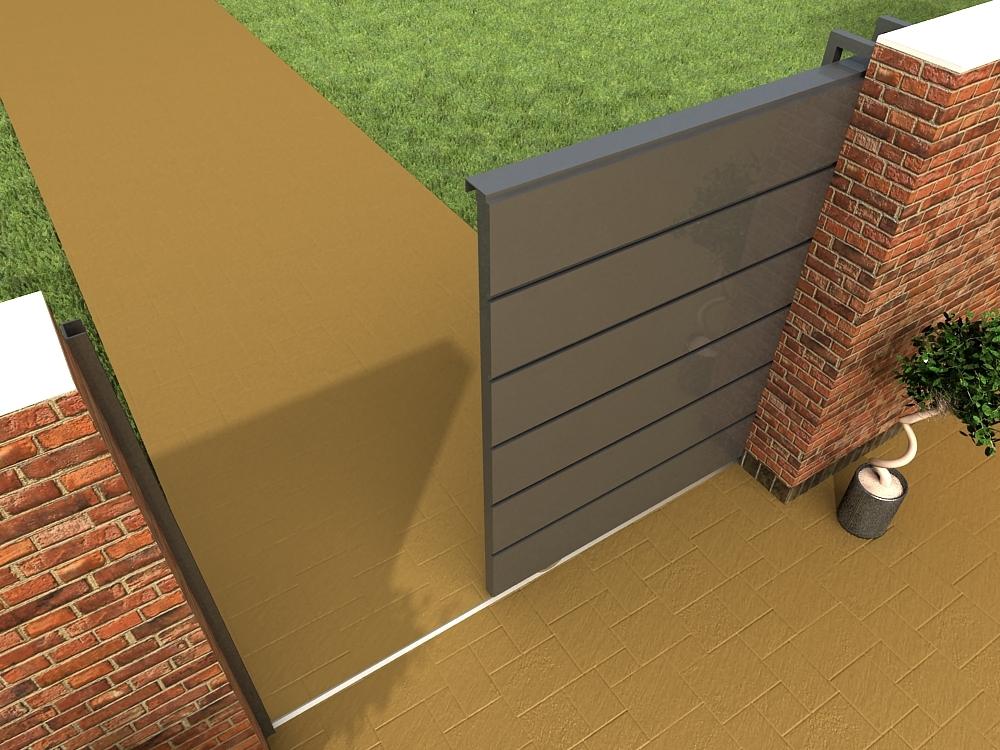 Porton de chapa corredizo modelo loft de 240 x 200 for Como hacer un porton de madera economico