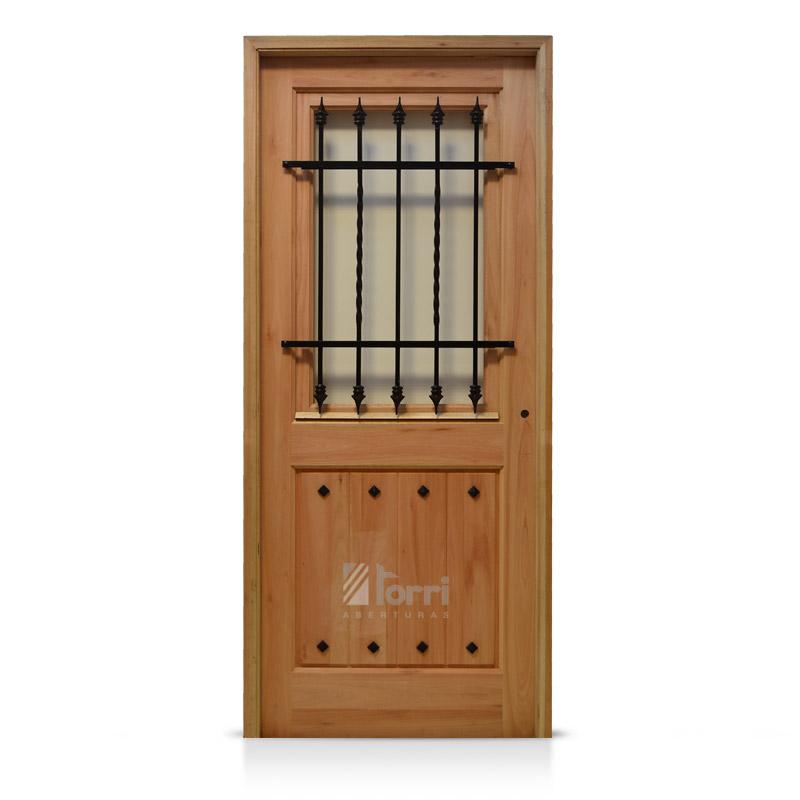 Puertas madera y vidrio puerta placa cedro vidrio - Puertas de madera con cristal ...