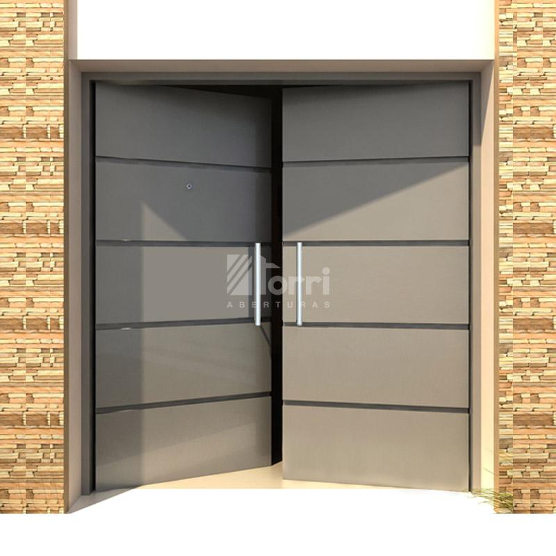 Puerta doble de chapa 18 reforzada modelo loft de 160 200 for Doble puerta entrada casa
