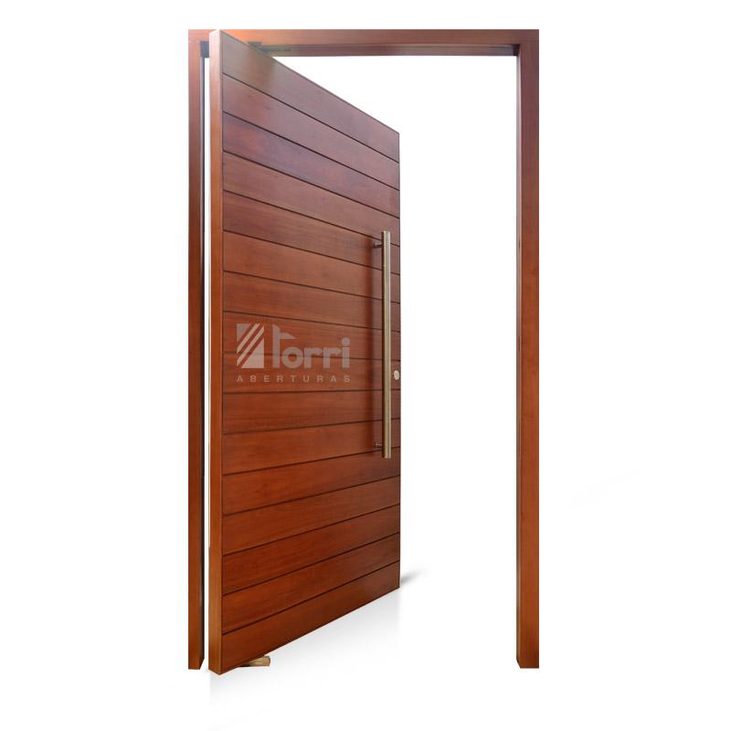 Puerta de madera pivotante modelo tavernelle de 120 220 for Puerta entrada madera