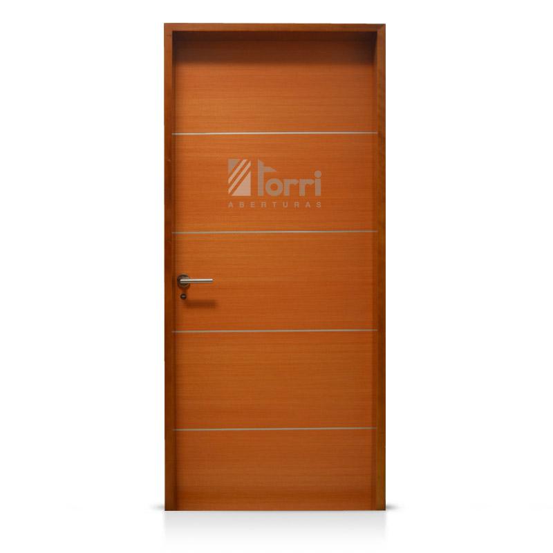Puerta placa Oblak modelo Luxor de 080 marco madera – Aberturas Torri
