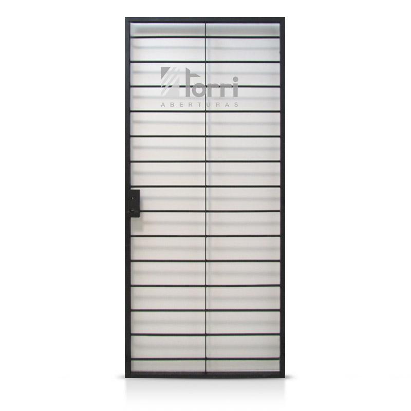 Puerta Reja de hierro macizo Horizontal de 080×200 con marco ...
