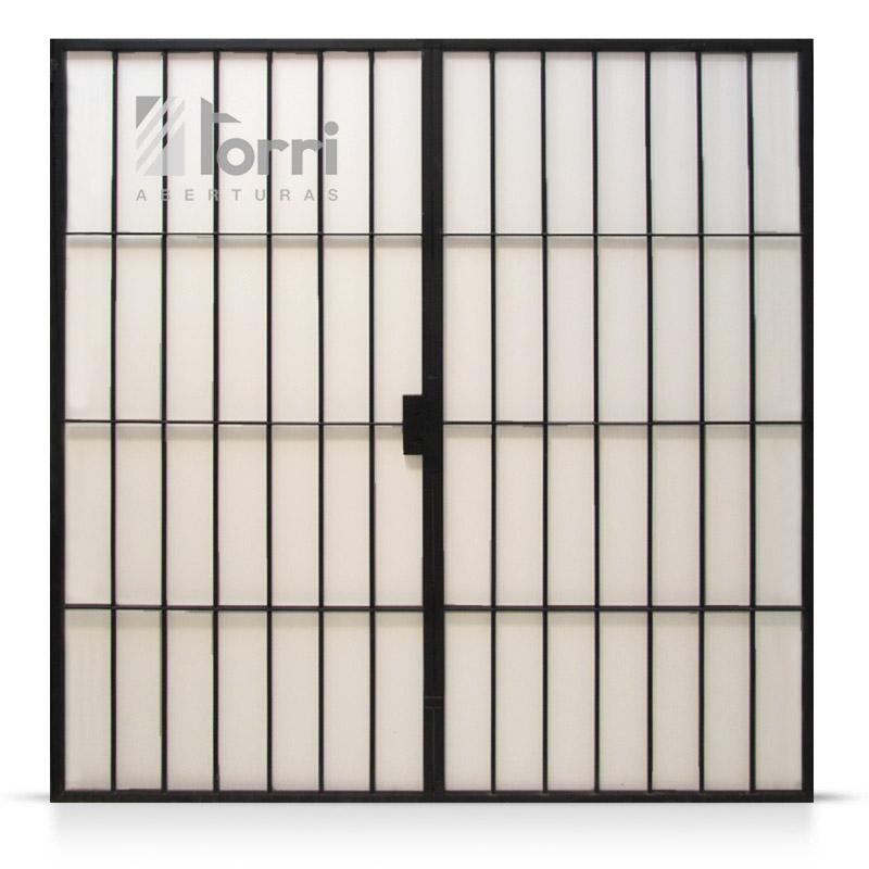 Reja de Abrir hierro macizo de 200×200 con marco – Aberturas Torri