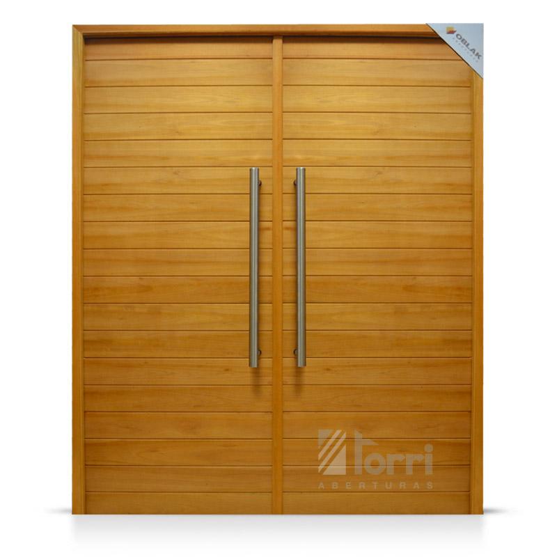 Puerta doble madera oblak modelo 2331 de 160 200 for Puertas dobles de madera exterior