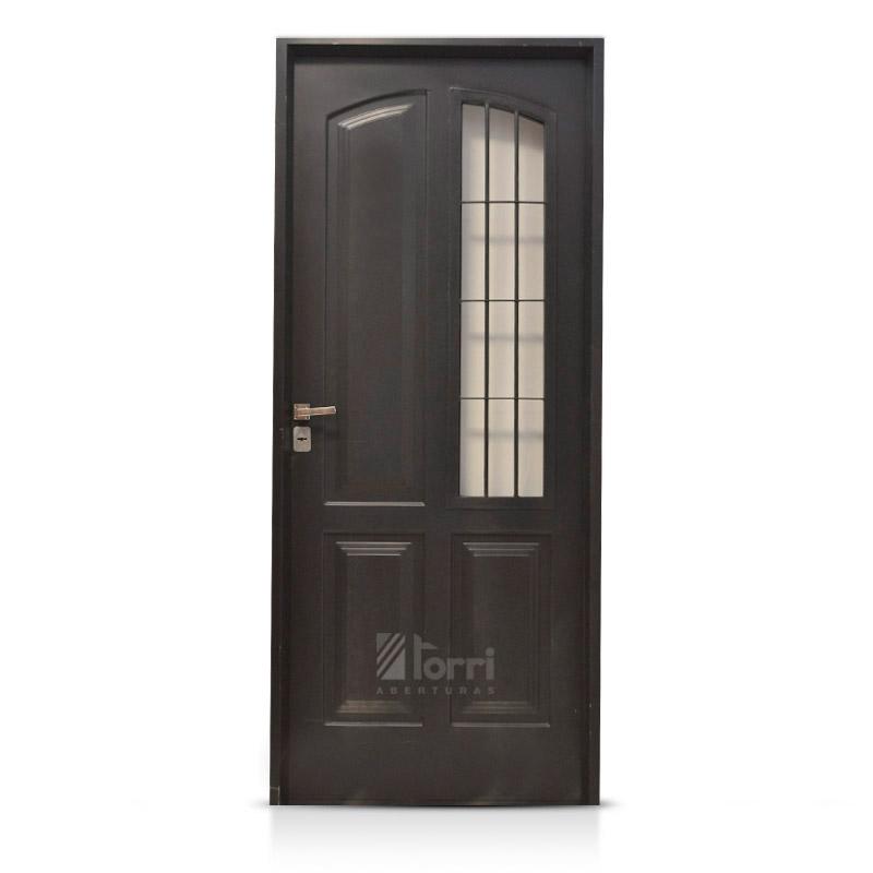 Puertas de chapa para exterior aberturas torri for Modelos de puertas para dormitorios modernas