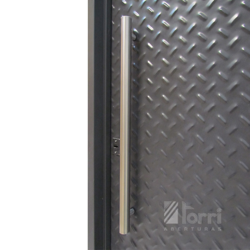 Puerta chapa superreforzada semilla de mel n de 080 200 for Puertas de chapa para exterior