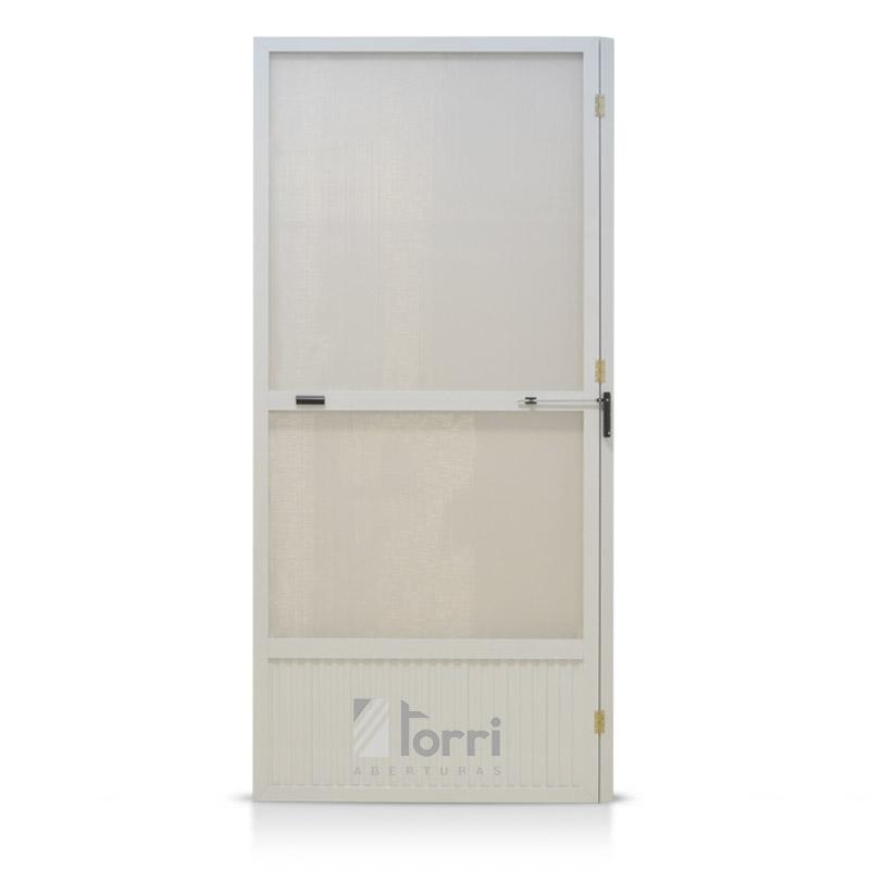 Puerta Mosquitera De Aluminio Blanco 080 200 Aberturas Torri