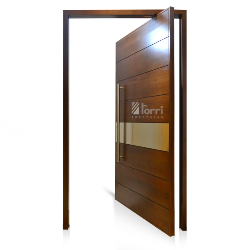 Puerta de madera pivotante modelo faminia de 120 220 for Modelos de puertas de frente de madera