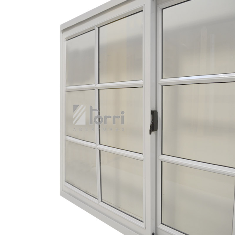 Ventana aluminio blanco herrero de 150 110 con vidrio for Ver ventanas de aluminio blanco